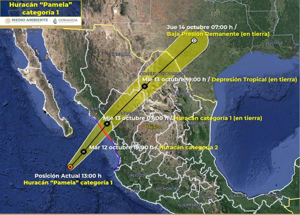 """Hura1 1 1024x736 - Prevén lluvias en esta región por los efectos del huracán """"Pamela"""""""