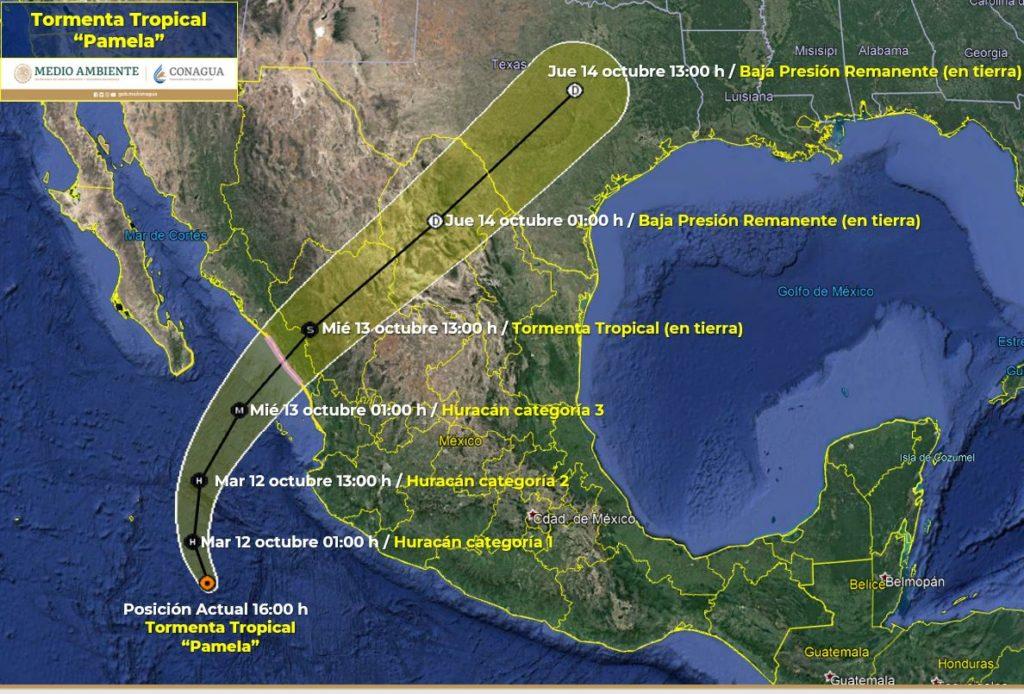 """PAM1 1024x694 - """"Pamela"""" se fortalece y esta noche será huracán; piden tener cuidado"""